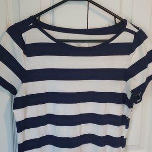 NAUTICA sleepwear nightgown - LG - white/navy blue